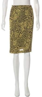 Missoni Metallic Knit Pencil Skirt