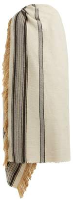 Isabel Marant Striped Silk Blend Scarf - Womens - White