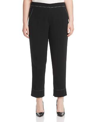 Marina Rinaldi Raggiox Contrast Stitched Cropped Pants