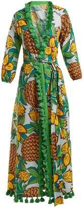 RHODE RESORT Lena pineapple-print cotton midi dress