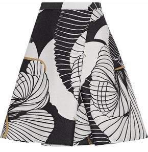 Vionnet Metallic Pleated Jacquard Mini Skirt
