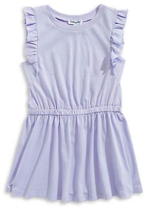 Splendid Cap-Sleeve Ruffled Dress