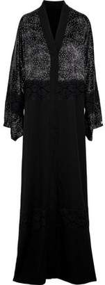 Dolce & Gabbana Lace-Paneled Printed Satin And Silk-Blend Kimono
