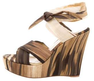 Gianvito Rossi Printed Wedge Sandals