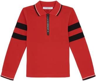 Givenchy Stripe Sleeve Polo Shirt