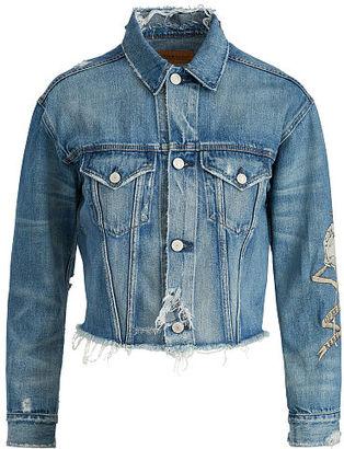 Ralph Lauren Denim & Supply Patched Denim Boyfriend Jacket $225 thestylecure.com