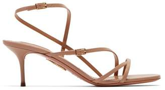Aquazzura Carolyne 60 Leather Sandals - Womens - Nude