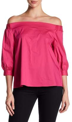 Laundry by Shelli Segal Off-the-Shoulder Poplin Blouse