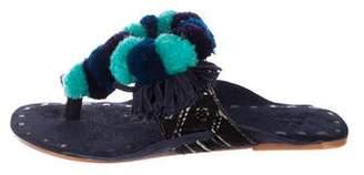 Figue Fringe Flat Sandals