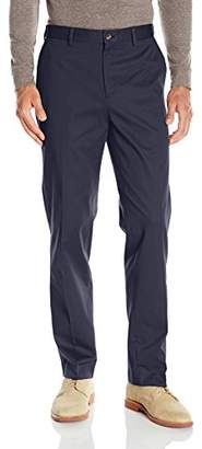Louis Raphael s Men's Flat Front Cotton Blend Pant with Comfort Waistband