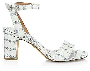 Tabitha Simmons Women's Leticia Floral Satin Block Heel Sandals