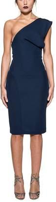 DSQUARED2 Blue One Shoulder Dress