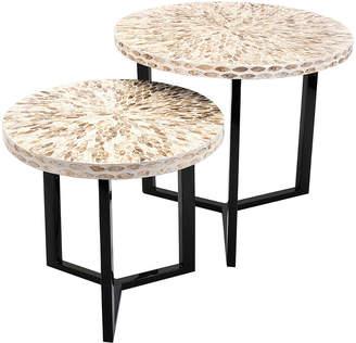 Imax Set Of 2 Surya Shell Tables