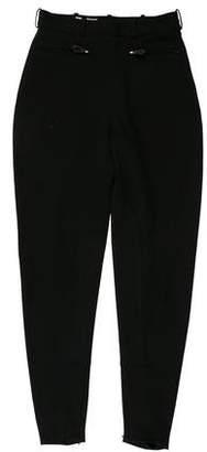 Hermès Wool High-Rise Pants
