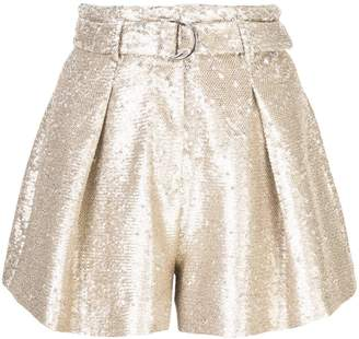 Jonathan Simkhai sequin pleated shorts