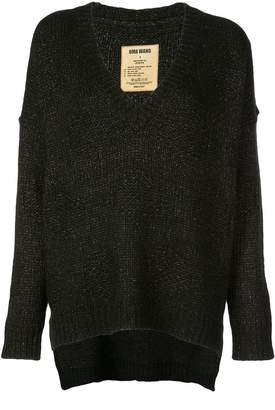 UMA WANG deep V-neck knitted jumper