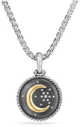 David Yurman Cable Collectibles Moon and Star Amulet with Diamonds and 18K Gold