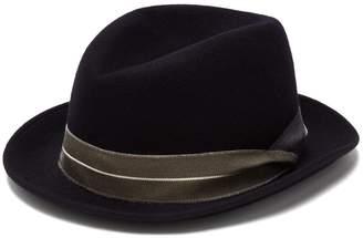 Giorgio Armani Grosgrain-trimmed wool felt trilby hat