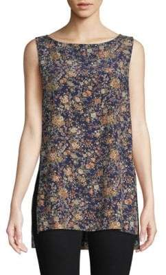 ADAM by Adam Lippes Sleeveless Floral Silk Tunic