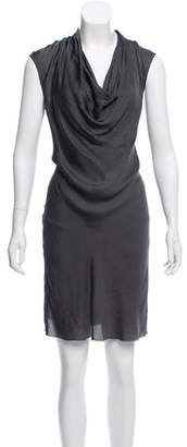 Helmut Lang Draped Knee-Length Dress