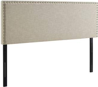 Modway MOD-5388-BEI Phoebe Upholstered Fabric Headboard, King, Beige