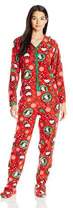 Hello Kitty Women's Ugly Holiday Footed Pajamas with Hood $38 thestylecure.com