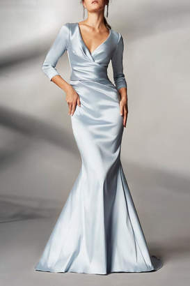 Theia 3/4 Sleeve Gown