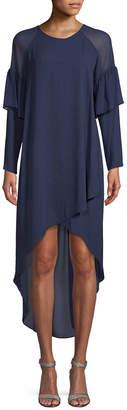 BCBGMAXAZRIA Ruffled High-Low Dress