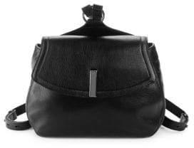 Halston Medium Pebbled Leather Backpack
