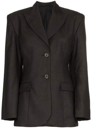 Wright Le Chapelain wide shoulder wool blazer