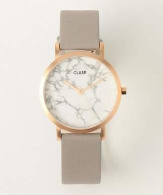 Cluse レザー33mmフェイス マーブルウォッチ/ピンクゴールドカラー
