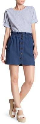 Mo:Vint Button Down A-Line Skirt