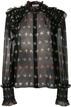 Sonia Rykiel floral print ruffle trim blouse