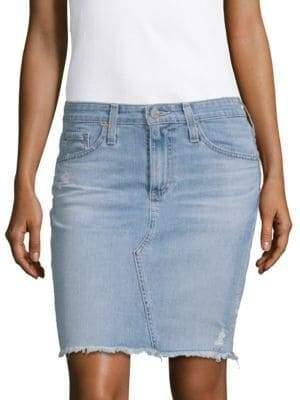 AG Jeans Led Denim Pencil Skirt