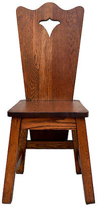 One Kings Lane Vintage Arts & Crafts Solid Oak Chair - Cannery Row Home