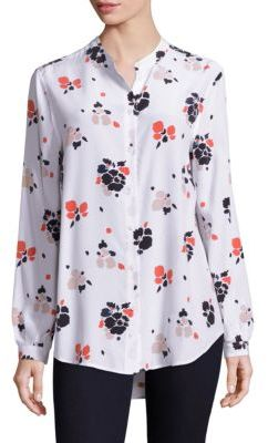 Equipment Equipment Henri Painted Blossoms Silk Blouse