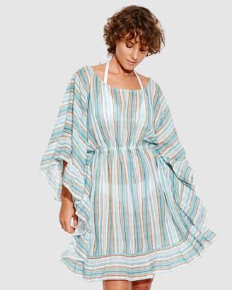 Seafolly Inka Gypsy Ruffled Stripe Kaftan