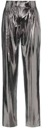 Filles a papa Clint Mid-Rise Metallic Trousers