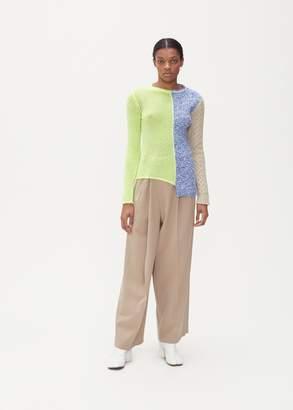 Maison Margiela Long Sleeve Spliced Sweater