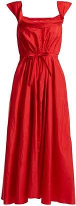 Brock Collection Davi square-neck taffeta dress
