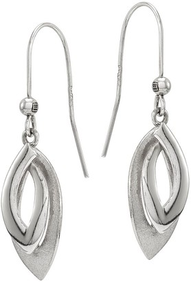 Sterling Freeform Triangle Earrings by Silver Style