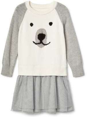 Gap Mix-fabric polar bear dress