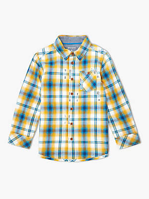John Lewis & Partners Boys' Ombre Check Shirt