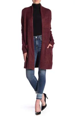 Susina Knee Length Shawl Collar Cardigan
