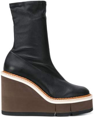 Clergerie chunky heel boots