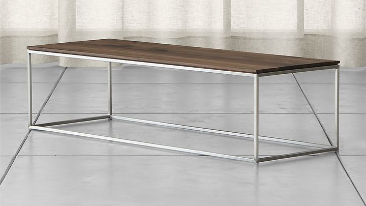 Crate & Barrel Frame Small Coffee Table