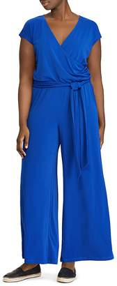 Lauren Ralph Lauren Plus Wide Leg Jersey Jumpsuit