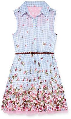 Knitworks Knit Works Sleeveless Gingham A-Line Dress Girls