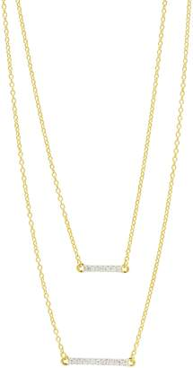 Freida Rothman Radiance Double Pendant Necklace