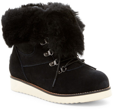 Australia Luxe Collective Australia Luxe Collective Yael Hidden Wedge Foldover Genuine Shearling Boot